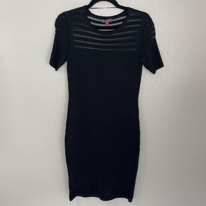 Vince Camuto Black Bodycon Bandage Dress Fitted XS